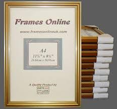 ten a4 narrow gold certificate frames