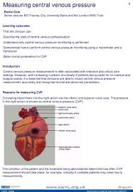 Central Venous Pressure Measurements Cvp