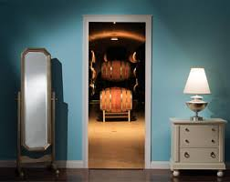 home wine room lighting effect. Door Mural Wine Cellar View Effect Decal Home Decor Window Sticker Wallpaper Living Vinyl Room Lighting