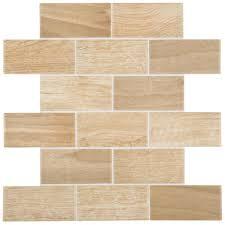 daltile parkwood beige 12 in x 12 in x 6 mm ceramic brick
