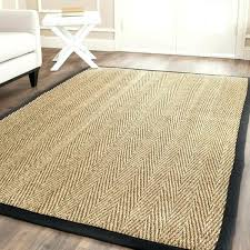 10 x 14 seagrass rug rugs casual natural fiber hand woven sisal natural black rug 8 10 x 14 seagrass rug
