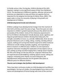early emotional child development essay infancy and early early emotional child development essay