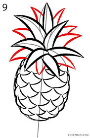 pineapple drawing. how to draw a pineapple step 9 drawing t