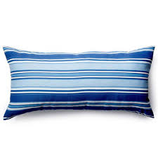 18in x 36in blue stripes outdoor pillow