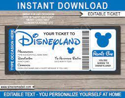 Printable Disney Trip Reveal Gift