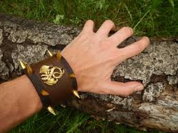 wide brown leather cuff spiked dragon leather bracelet leather cuff leather cuff bracelet leather bracelet with spikes