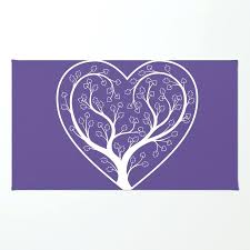 heart shaped rugs ultraviolet love grows tree rug by rag tutorial
