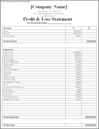 annual financial statement template statement of account template word