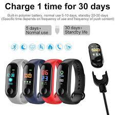 <b>Smart</b> Bluetooth Sports <b>Bracelet</b> M3 Plus Heart Rate Blood Pressure ...