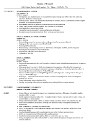 Digital Editor Job Description Digital Editor Resume Samples Velvet Jobs 7