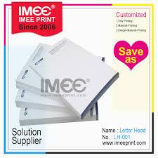 Hot Item Imee Printing Promotion Custom Cheap Printed Letterhead