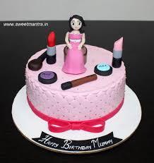 Makeup Theme Customized Designer Fondant Cake With 3d Lady Figurine