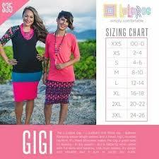 Lularoe Gigi Size Chart In 2019 Gigi Lularoe Lularoe