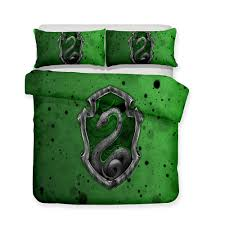 3d printed bedding theme harry potter green slytherin college bedding sets duvet cover set twin comforter sets pink bedding from home8888