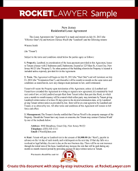 How Do You Make A Lease Agreement Adorable New Jersey Lease Agreement