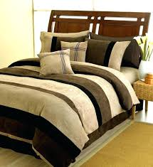 black chocolate and camel jacaranda striped microsuede 6 pcchocolate king size duvet cover brown canada brown