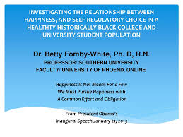 Dr. Betty Fomby-White, Ph. D, R.N. - ppt download