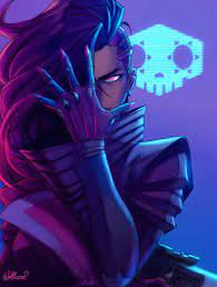 Female character, Overwatch, Sombra ...