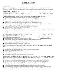 Senior Quality Engineer Sample Resume Haadyaooverbayresort Com