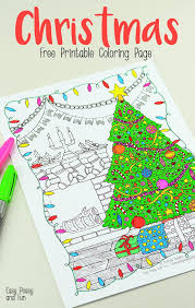 Christmas Coloring Paper Free Printable Christmas Coloring Page Easy Peasy And Fun