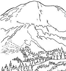 Mount Rainier Coloring Page & Coloring Book