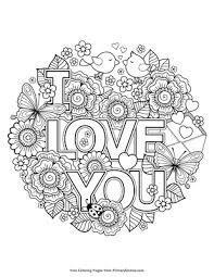 It's the holiday of love after all. I Love You Coloring Page Free Printable Pdf From Primarygames