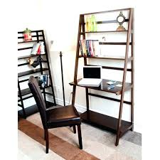 desktop shelving bookshelf desk appealing ladder dark brown book shelves with table and office