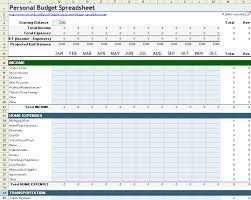 Budget Layout Example Personal Budget Spreadsheet Template For Excel