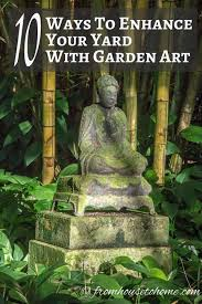 how to use garden decor and yard art to