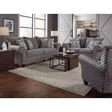 Casual Traditional Gray 2 Piece Living Room Set Paradigm RC