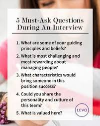 Interview Questions About Success Infographic Levo Leagues Top Interview Tips 5 Must Ask