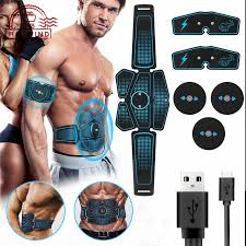 HW Electric <b>Vibration ABS Stimulator</b> EMS <b>Abdomen Muscle Trainer</b> ...