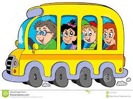 Autobus Scolaire De Dessin Anim Avec Des Gosses Image Libre De