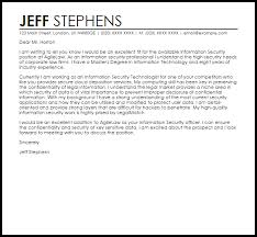 security cover letter samples information security cover letter sample livecareer