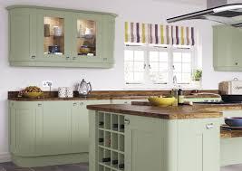 Green Shaker Style Kitchen
