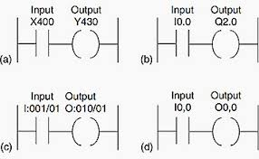 plc ladder diagrams for electrical engineers notation a mitsubishi b siemens c allen bradley
