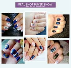 nail art decals Picture - More Detailed Picture about Blueness 3D ...