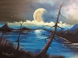acrylic landscape painting lesson morning in lake by jmlisondra