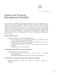 Property Management Agreements Appendix G Intellectual Property Management Checklist Management 7