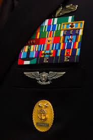 service ribbons ribbon devices and badge awards displa on a u s navy service uniform