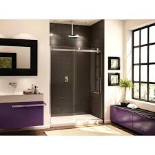 x shown with chrome finish hardware and low 48 inch sliding shower door clear glass frameless glass sliding shower door