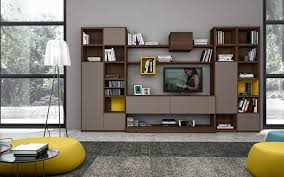 Living Room Built In Wall Living Room Shelves Combine Wooden