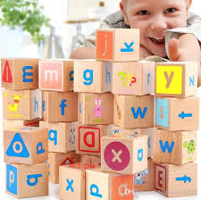 deluxe extra large wooden abc blocks stacking game kindergarten preschool educational building toys alphabet letters 4 4 4cm plastic building blocks