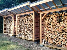 image of outdoor firewood rack with roof plans