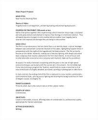 Corporate Proposal Template Corporate Video Proposal Template