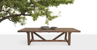 concrete and trestle table
