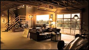 Cool Living Spaces Inside Of Garages Leather Furniture And - Iron man house interior