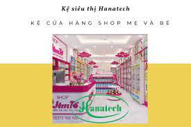Kệ shop cửa hàng mẹ và bé | Giá kệ trưng bày Shop mẹ và Bé Hanatech