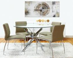 zuly glass modern round dining table