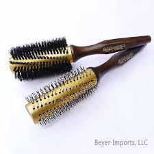 gold plated metal hair styling brushes